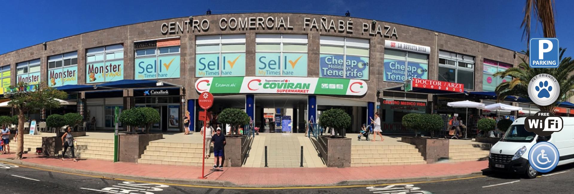 Centro Comercia Fañabé Plaza, es un centro comercial abierto, en el Sur de Tenerife